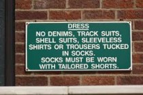 71% of golfers believe dress codes are a problem for golf