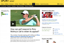 Mainstream media reveals golf's shortcomings