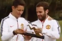 Manchester United stars play footgolf
