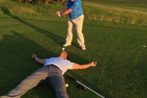 Golf club captain plays an astonishing four rounds in four countries in one day