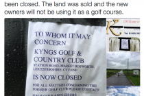 Closed-down golf club could re-open in 2018