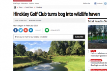 Golf club praised for turning flooded bog into a wildlife haven