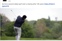 131-year-old Surrey golf club to close down