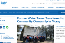 Scottish Water gives a tower to a golf club to help with its finances