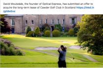 Optical Express founder makes bid to buy top golf club