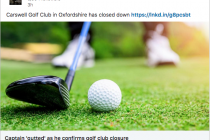 Oxfordshire golf club closes down