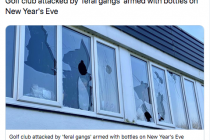 Golf club has 13 windows smashed by yobs