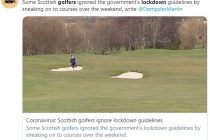 Some golfers are ignoring guidelines and playing golf