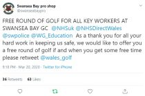 Golf courses can remain open; Clubs close bars and restaurants; More clubs offering free golf; War on coronavirus update