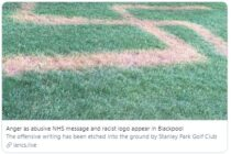 Golf club finds a swastika has been etched into the grass