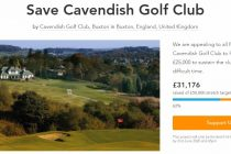 What amounts did golf clubs that set up lockdown crowdfunders secure?