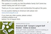 Another UK golf club closes down amid Covid-19