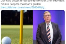 Golf course to be redesigned as balls land in football boss's garden