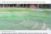 Another two golf courses hit by vandals