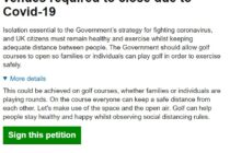 Petition for golf to stay open quickly hits 100,000 signatures