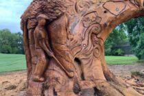 Golf club turns dying tree into stunning art exhibit