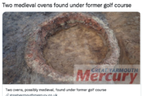 Another archaeological discovery is made at an English golf course